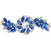 Crystal Motifs Fancy Swirl 10.5x4cm Blue Aurora Borealis/gold